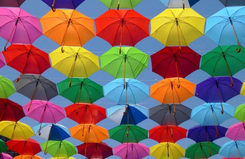 parapluies colorés aarone conseil